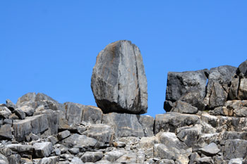 Balanced Boulder on Carval Rock