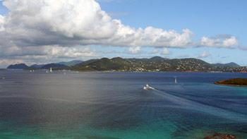 View of St. John from a Helicopter