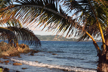 View of St. John from Sapphire Beach on St. Thomas