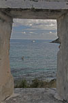 Wiew through window, Lameshur Bay St. John