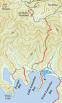 Map of Bordeaux Mountain Trail