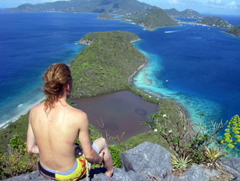 Summit of Great Thatch BVI