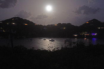 Full Moon over Great Cruz Bay St. John USVI