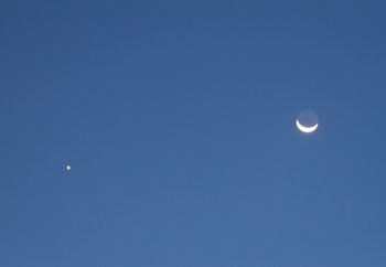 St. John Virgin Islands Morning: Venus and the Moon