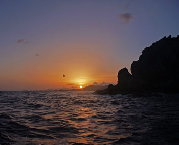st john virgin islands sunset at ram head