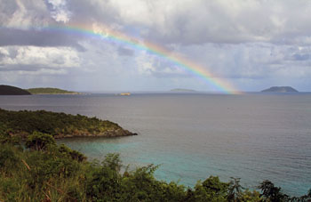 Trunk Bay St, John Virgin Islands Rainbow
