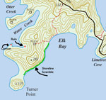 turner point trail map, st john usvi