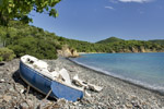 wrecked boat on elk bay - st john usvi