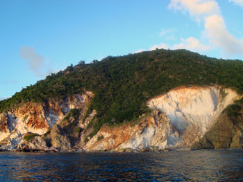 st john usvi trails: white cliffs