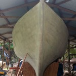Traditional Tortola Island Sloop: Bow View