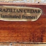 cedar for the frames