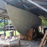 Traditional Tortola Island Sloop: Hull View