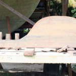 Traditional Tortola Island Sloop: Rudder