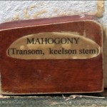 mahogany for the transom, keelson stem