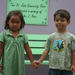 Jacob and Oliva get ready for their first day at the Gifft Hill School
