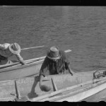 French Village, a small settlement on St. Thomas Island, Virgin Islands. Fishermem bailing their boats after the day's catch.Delano, Jack, photographer. CREATED/PUBLISHED 1941 Dec.