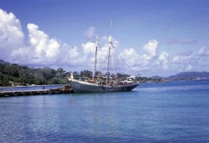 Cruz Bay Dock St John US Virgin Islands 1965