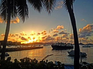 cruz bay sunset, st john us virgin islands