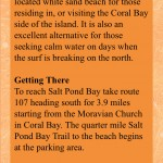 Salt Pond Bay Text