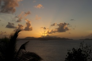 virgin islands sunset