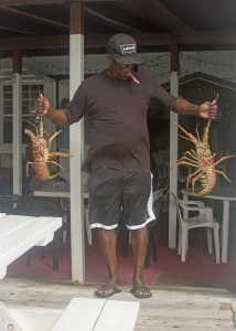 Virgin islands seafood: lobsters