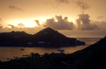 St. John yellow sky