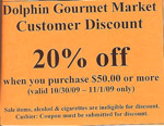Dolphin Market Discount Coupon