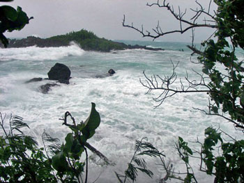 Denis Bay, St. John USVI during Hurricane Earl