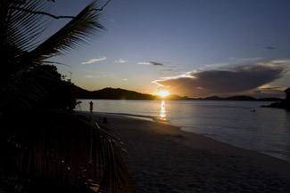 Sunset at Trunk Bay