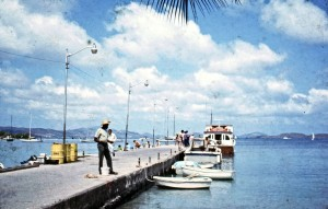 Cruz Bay Dock St John US Virgin Islands 1971