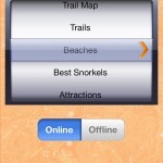 St. John Off the Beaten Track App: Home Screen