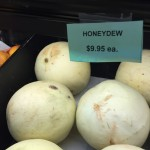 St. JOhn USVI food prices: honeydew