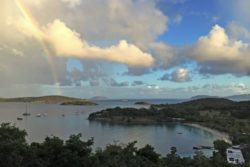 Caneel Bay Overlook rainbow