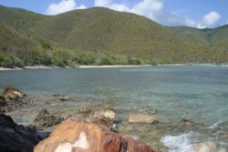 Little Reef bay from rocky headland