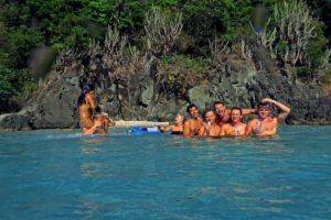 Mermaids chair Hawksnest bay St John USVI pocket beach
