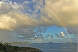 Trunk Bay overlook rainbow
