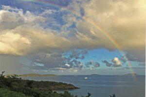 Overlook rainbow Trunk bay