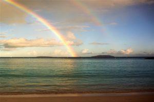 Trunk bay rainbow St.John USVI