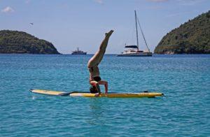 paddle boarding sup Maho Bay