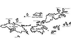 The Virgin Islands map